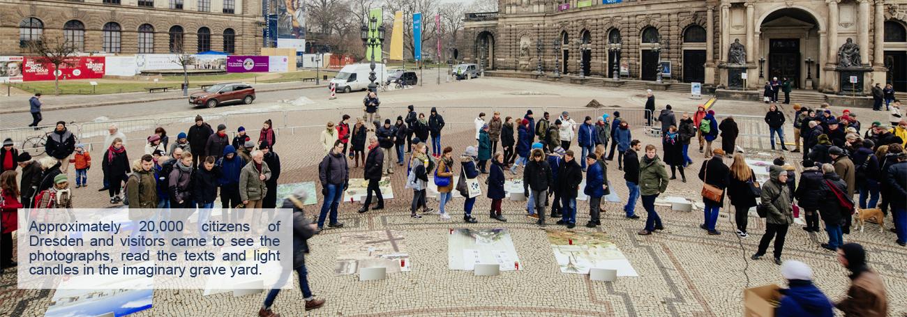 """Eroeffnung Ausstellung """" Lampedusa 361 """" der Fluechtlingsgraeber auf Sizilien am 10.02.2017 in Dresden . Foto: Oliver Killig"""