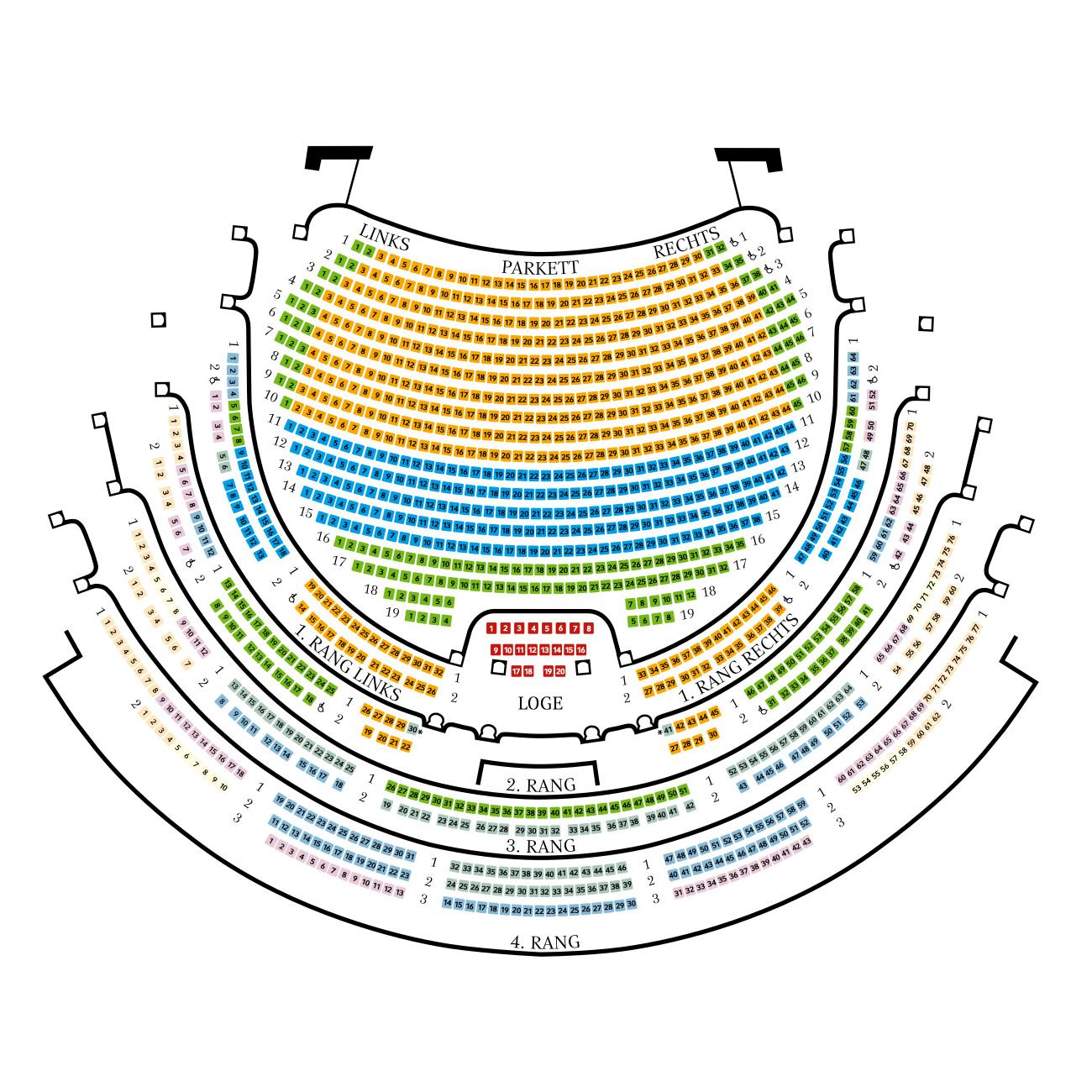 Sitzplan Semperoper